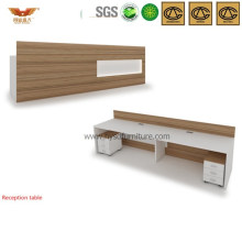 Customized Office Furniture Wooden Reception Desk (HY-Q13)