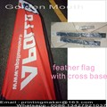 Double Sided Feather Flags dengan Cross Base