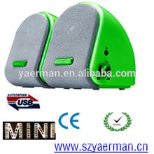 Nuevo altavoz vendedor caliente de las multimedias del USB 2.0 de la llegada mini