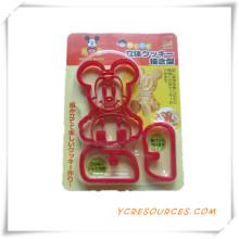 Bolo Venda Quente Diferente Formas de Plástico Cortador De Biscoitos Molde Set 2015 Presente Promocional para Cookie Mold Mickey Mouse (HA13019)