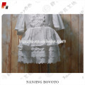 Wholesale new design blank white toddler dress