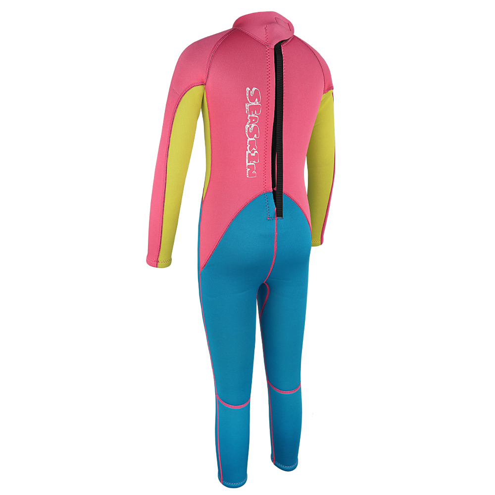 Seaskin Kids Back Zip Wetsuit with Long Sleeves
