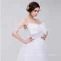 Beautiful Pure White Chiffon Big Bowknot In Front Ball Grown Designer Wedding Dress