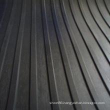 Wide Ribbed Anti-Slip Rubber Flooring Sheet