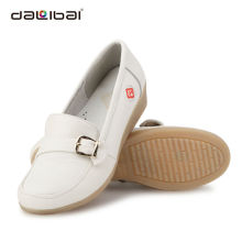 women breathable genuine leather for nurse comfortable medical shoes