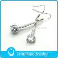 TKB-E0088 Joyas antiguas para damas Chanderlier Pendientes de diamantes pequeños con gota cz