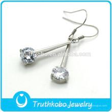 TKB-E0088 Bijoux anciens pour femmes Chanderlier petites boucles d'oreilles en diamant avec goutte cz