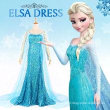 Traje de cosplay para adulto senhora vestido elsa princesa congelada