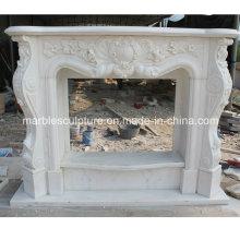 Natural pedra mármore lareira com preço baixo (SY-MF211)