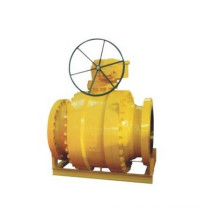 Worm Gear Flanged Forged Trunion Stainless Steel Ball Valve