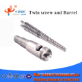 bimetallic conical twin screw and barrel for extrusion line