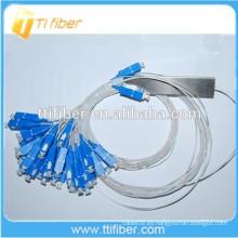 0.9mm Mini Fibra Óptica PLC Splitter 2x32