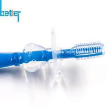 100% de qualité alimentaire de brosse à dents pour bébé / enfants en silicone écologique