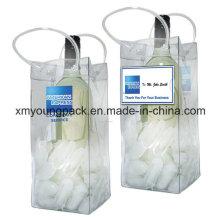 Promotional Portable Plastic PVC Ice Bag Beer Bottle Holder
