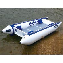 Надувная лодка катамаран высокоскоростная лодка