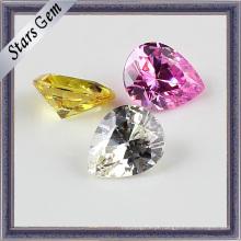 Brilliant cores pêra corte Zircon Gemstone Beads