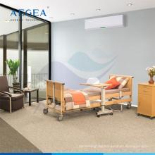 AG-MC001 Wood base motorized hospital electric 5 functions nursing furniture medicare home care bed for elderly