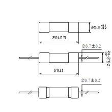 Fusible de tube en verre 5 * 20 capacité de rupture évaluée 150A Rt1-20 (E)