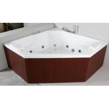 PS Skirt Acrylic Indoor Whirlpool Corner Bathtub (JL821)
