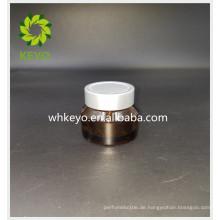 30g Heißer Verkauf bilden Verpackung bernsteinfarbenen leere kosmetische Zylinder Glas mit Schraubverschluss