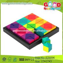 2015 Novos brinquedos educacionais de quebra-cabeças de madeira, blocos de quebra-cabeças de madeira, enigmas de madeira para crianças