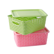 Weave Design Hollow Plastic Storage Box for Storage (SLSN037)