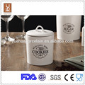 Round and square ceramic kitchen canister coffee storage canister