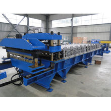Roofing glazed tile cold roll forming machine