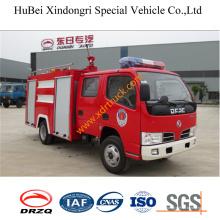 Caminhão dobro do fogo da água das fileiras do dobro de 4ton Dongfeng Duolika