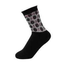 Wholesale Loose Cuff Woman Socks Cotton Socks Jacquard Socks with Flower