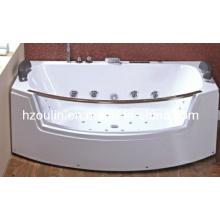 Bañera de hidromasaje de acrílico blanco con hidromasaje (OL-664)