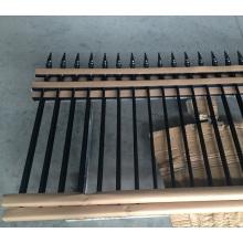 Alibaba barato dos carriles paneles de valla de aluminio