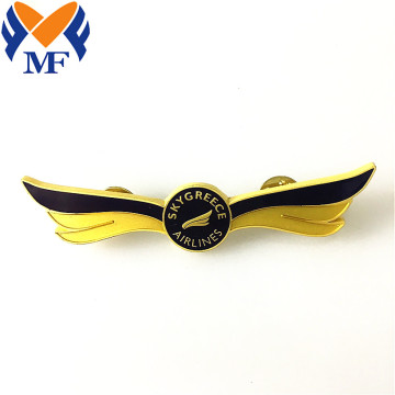 Wings Custom Metal Bentuk Pin Badge Syarikat Penerbangan