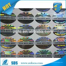 Aceite encomendas personalizadas e características de raspagem Etiqueta de vestuário de uso permanente de material de poliéster PET