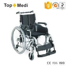 Cadeira de rodas elétrica multifuncional leve e dobrável com estrutura de alumínio