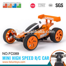 Hot selling 2.4G 4CH 11cm mini high speed petrol rc car with metal ring(with USB line)