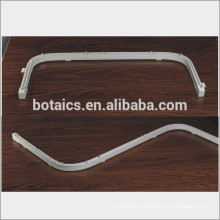 aluminum profile sliding windows curved bendable curtain pole