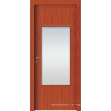 Hohe Qualität WPC Innentüren, WPC Französisch Tür mit Milchglas oder sauberes Glas