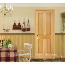 Design de carvalho interior folheado de madeira maciça, portas de painel de madeira, portas de sala