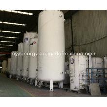 Réservoir de liquide de stockage cryogénique en acier soudé Lox / Lin / Lar / LNG / LPG