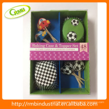 football design Baking case & Topper set baking cup