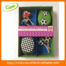 Design do futebol Capa do baking & copo do cozimento do jogo de Topper