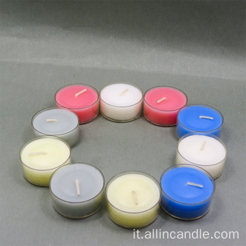 Candele di vetro colorate per il matrimonio