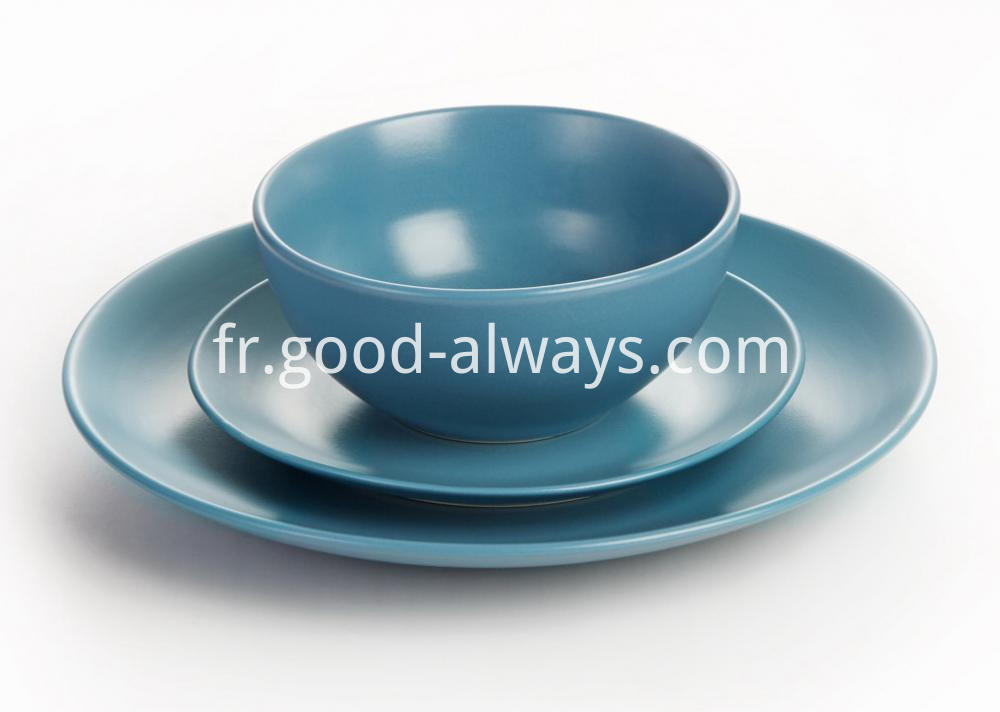 Matt Blue dinnerware set