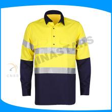 Prix d'usine perceuse en coton hola vis chemise chemise à manches longues