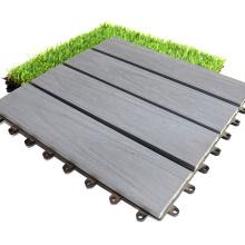Eco-Friendly Interlocking Outdoor Garden Co-Extrusion Flooring Tiles WPC DIY Decking Tiles