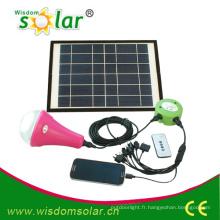 Éclairage solaire mode CE avec 3 ampoules LED