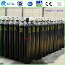 Cilindro de gas de nitrógeno de acero sin costura de alta presión 40L (ISO9809-3)
