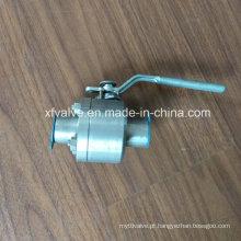 ANSI forjou a válvula de bola de aço inoxidável da extremidade da soldadura F304 / F316