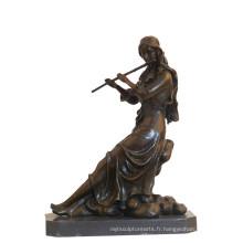 Musique Décor En Laiton Statue Classique Lady Sculpture En Bronze Sculpture Tpy-989